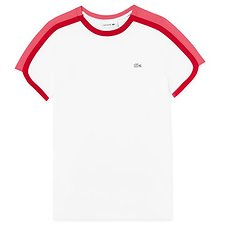 Image of Lacoste WHITE/ALICE-TOREADOR WOMEN'S COLOUR BLOCK TEE