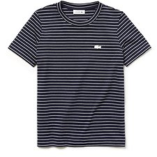 Image of Lacoste NAVY BLUE/FLOUR WOMEN'S STRIPE JERSEY TEE