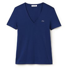 Image of Lacoste MARINO WOMEN'S BASIC V NECK TEE