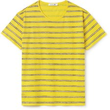 Image of Lacoste SOLSTICE YELLOW WOMEN'S PRINTED STRIPE TEE