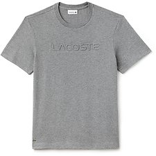 Image of Lacoste GALAXITE CHINE MEN'S CHEST LOGO TEE