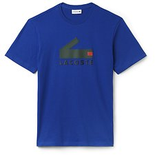 Image of Lacoste STEAMER MEN'S BLOCK CROC LOGO TEE
