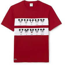 Image of Lacoste LIGHTHOUSE RED/WHITE MEN'S MICKEY MOUSE TEE