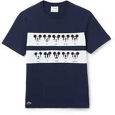 Image of Lacoste NAVY BLUE/WHITE MEN'S MICKEY MOUSE TEE