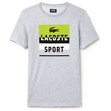 Image of Lacoste MULTI COLOUR BLOCK LOGO TEE