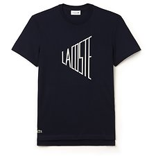 Image of Lacoste NAVY BLUE/FLOUR MEN'S VINTAGE LOGO TEE