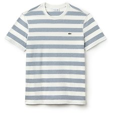 Image of Lacoste FLOUR/KING MEN'S CREW NECK STRIPE TEE