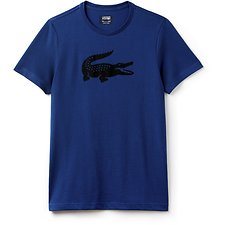 Image of Lacoste MARINO/BLACK MEN'S BIG CROC TEE