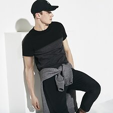 Image of Lacoste  MEN'S COLOUR BLOCK LOGO TEE