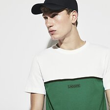 Image of Lacoste  MEN'S COLOUR BLOCK LOGO TEE