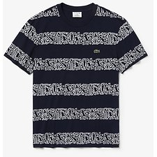 Image of Lacoste NAVY BLUE MEN'S KEITH HARING STRIPE TEE