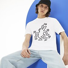 Image of Lacoste WHITE MEN'S KEITH HARING CROCODILE TEE