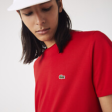 Image of Lacoste RED MEN'S BASIC CREW NECK PIMA TEE