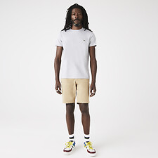 Image of Lacoste SILVER CHINE MEN'S BASIC CREW NECK PIMA TEE