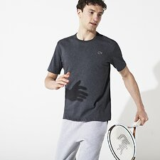 Image of Lacoste GREY BASIC CREW NECK SPORT TEE