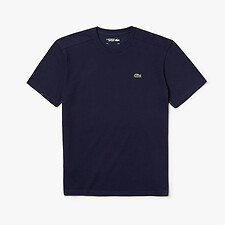 Image of Lacoste NAVY BLUE MEN'S BASIC CREW NECK SPORT TEE
