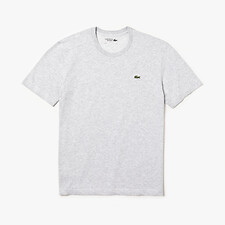 Image of Lacoste SILVER CHINE MEN'S BASIC CREW NECK SPORT TEE