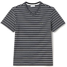 Picture of V NECK STRIPE TEE WATERFALL