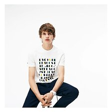 Image of Lacoste FLOUR MEN'S ALPHABET TSHIRT