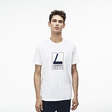 Image of Lacoste WHITE MEN'S FRA 27 TEE