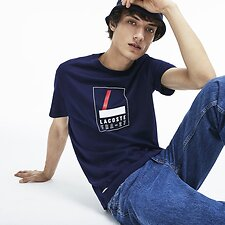 Image of Lacoste NAVY BLUE MEN'S FRA 27 TEE