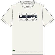 Image of Lacoste FLOUR MEN'S RETRO STACKED LOGO TEE