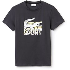 Image of Lacoste GRAPHITE/WHITE-BLACK MEN'S BIG CROC SPORT TEE
