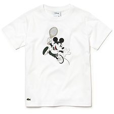 Image of Lacoste WHITE KIDS' DISNEY TEE