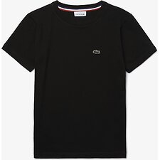 Image of Lacoste BLACK KIDS' BASIC CREW NECK TEE