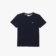 Image of Lacoste NAVY BLUE KIDS BASIC CREW NECK TEE