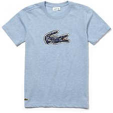 Image of Lacoste DRAGONFLY CHINE KIDS' BIG CROC PRINTED TEE