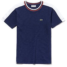 Image of Lacoste MARITIME/WHITE KIDS' RETRO TEE