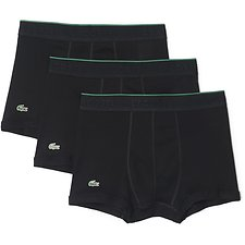 Image of Lacoste BLACK 3 PACK SUPIMA COTTON TRUNKS