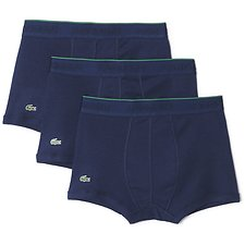 Image of Lacoste BLUE 3 PACK SUPIMA COTTON TRUNKS