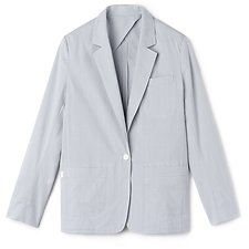 Image of Lacoste  WOMEN'S SEERSUCKER BLAZER