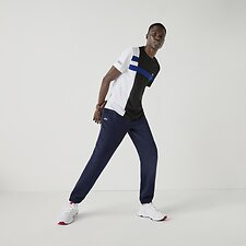 Image of Lacoste NAVY BLUE FLEECE TRACKSUIT PANTS