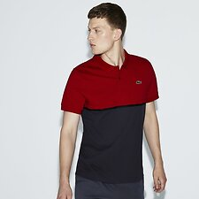 23cc0654b23a Image of Lacoste LIGHTHOUSE RED GRAPHITE-B MEN S LACOSTE SPORT COLOUR BLOCK  POLO